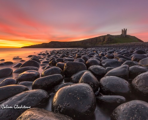 Dunstanburgh Castle by Lindisfarne Castle by Calum Gladstone